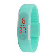 お買い得  スマートウォッチ-hhy新しいledの腕時計の男性と女性の腕時計カラーラバー創造的なデジタル時計