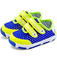 Genç Kız Ayakkabı Hava Alan File PU Bahar Sonbahar İlk Adım Atletik Ayakkabılar Yürüyüş Sihirli Bant Uyumluluk Günlük Turuncu Sarı Navy
