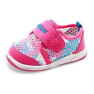 Genç Kız Düz Ayakkabılar İlk Adım Hava Alan File Bahar Sonbahar Günlük Yürüyüş İlk Adım Sihirli Bant Alçak Topuk Şeftali Navy Mavi Düz