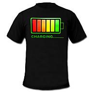 led t-shirts 100% bomuld 2 aaa batterier af høj kvalitet natlys