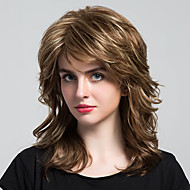 Charming Unique Long Curls  Human  Hair Wigs For Woman