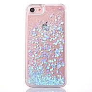 Para iPhone X iPhone 8 iPhone 8 Plus Capinha iPhone 5 Case Tampa Liquido Flutuante Transparente Capa Traseira Capinha Glitter Brilhante