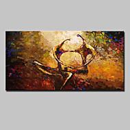 baratos -Pintados à mão Abstrato Horizontal,Modern Estilo Europeu 1 Painel Tela Pintura a Óleo For Decoração para casa