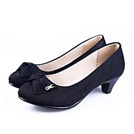 cheap Women's Heels-Women's Heels Formal Shoes Comfort Fabric Spring Summer Office & Career Dress Casual Chunky Heel Black 2in-2 3/4in