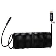 kkmoon 5.5mm 2-in-1 USB2.0 mikro USB endoskoopin vedenpitävä kannettavat borescope tarkastus kamera 0,3 megapikselin 15m
