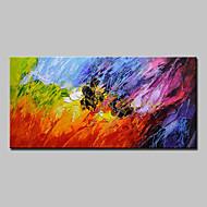 Kézzel festett Absztrakt Vízszintes,Modern Európai stílus Egy elem Vászon Hang festett olajfestmény For lakberendezési