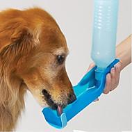 ネコ 犬 餌入れ/水入れ ペット用 ボウル&摂食 防水 携帯用 レッド ブルー ピンク