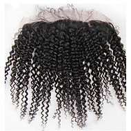 Brazilian kinky Curly Remy  Human 13x2 inch  Full Lace Frontal Closure Ear to Ear