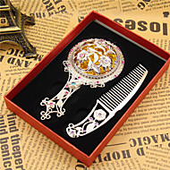 Čarovný zrcadlový přívěsek starožitný bronz fit náramky náhrdelník diy kovové šperky (náhodný styl)