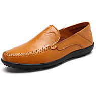 cheap Men's Slip-ons & Loafers-Men's Shoes Rubber Spring / Fall Moccasin Loafers & Slip-Ons Black / Light Brown / Dark Brown