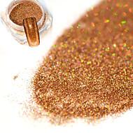 0.2g/bottle Fashion Brown Nail Art DIY Glitter Holographic Fine Powder Laser Shining Decoration Shining Pigment JX09