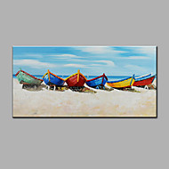 Modern Hand-Painted Abstract  Oil Painting Shore Of The Boat  Ready To Hang For Home Decoration