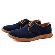 cheap Men's Oxfords-Men's Shoes Suede Leather Spring Fall Formal Shoes Bullock shoes Fashion Boots Oxfords Walking Shoes Split Joint for Wedding Office &
