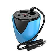 お買い得  車用チャージャー-QC2.0 LEDディスプレイ 高速充電器 マルチポート その他 USBポート×2 チャージャーのみ(ケーブル別売り) DC 5V/3.1A