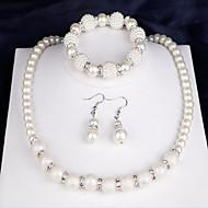 Dame Smykkesæt - Perle Mode Omfatte Brude Smykke sæt Hvid Til Fest Jubilæum Tillykke