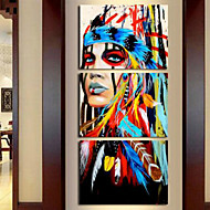 Art Print Abstract Modern,Three Panels Vertical Print Wall Decor For Home Decoration