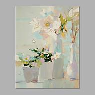 billiga Blom-/växtmålningar-Hang målad oljemålning HANDMÅLAD - Blommig / Botanisk Artistisk Inkludera innerram / Sträckt kanfas