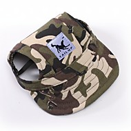 cheap Dog Clothing & Accessories-Cat Dog Bandanas & Hats Dog Clothes Camouflage Stripe Red/White White/Blue White/Pink Leopard Terylene Costume For Pets Men's Women's