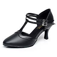 """billige Moderne sko-Dame Moderne Lær Høye hæler Innendørs Spenne Svart 2 """"- 2 3/4"""" Kan spesialtilpasses"""