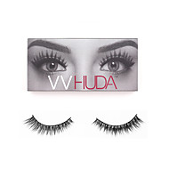 VVHUDA Eyelash 100% Hand Made False Eyelashes Upper 3D Elongated Realistic Light Messy Mink Hair Makeup Strip Sasha