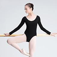 baletní trička dámská tréninková bavlna 1 kus dlouhý rukáv vysoký trik od nás