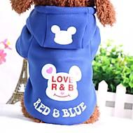 Cachorro Moletom Roupas para Cães Casual Desenho Animado Preto Azul Rosa claro Preto/Vermelho Azul/ Vermelho Ocasiões Especiais Para