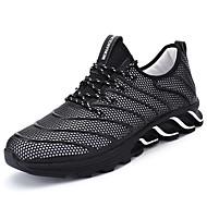 Homens sapatos Couro Ecológico Primavera / Outono Conforto Tênis Corrida Preto / Vermelho / Preto / Vermelho