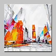 billiga Stilleben-Hang målad oljemålning HANDMÅLAD - Arkitektur Modern Utan innerram / Valsad duk