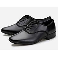 Недорогие -Для мужчин Латина Кожа На каблуках Тренировочные Черный Персонализируемая