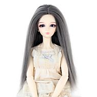Naisten Synteettiset peruukit Suora Harmaa Doll Wig puku Peruukit