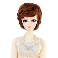 Naisten Synteettiset peruukit Laineikas Medium Auburn Doll Wig puku Peruukit