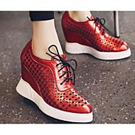 Dames Schoenen Ademend Gaas PU Lente Zomer Comfortabel Sneakers Voor Causaal Zwart Zilver Rood