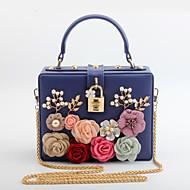 baratos Clutches & Bolsas de Noite-Mulheres Bolsas PU Bolsa de Festa Apliques / Flor Rosa / Roxo / Amêndoa