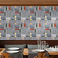 Geometrisk Art Deco 3D Tapet til Hjemmet Moderne Tapetsering , PVC/Vinyl Materiale Selvklebende bakgrunns , Tapet