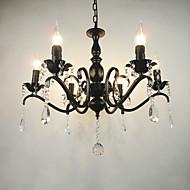 Недорогие -Ac110-240 гостиная люстра простой хрусталь железная свеча огни гостиная украшение лампы освещение