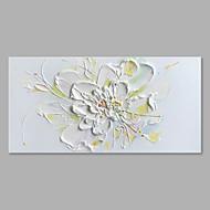 Χαμηλού Κόστους Πώληση-Hang-ζωγραφισμένα ελαιογραφία Ζωγραφισμένα στο χέρι - Άνθινο / Βοτανικό Αφηρημένο Μοντέρνο / Σύγχρονο Καμβάς
