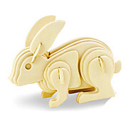 cheap -3D Puzzles Jigsaw Puzzle Wood Model Rabbit Dinosaur Plane / Aircraft Animal 3D DIY Wooden Wood Classic 6 Years Old and Above
