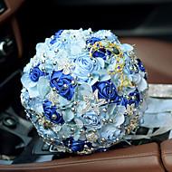 "cheap Wedding Flowers-Wedding Flowers Bouquets Wedding Bead Lace Silk Organza Satin 11.02""(Approx.28cm)"