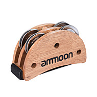 Ammoon eliptik kajon kutusu davul arkadaşı aksesuar ayak jingle tekerleği el percussion aletleri için burlywood