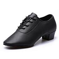 billige Moderne sko-Dame Sko til latindans PU Høye hæler Tykk hæl Kan spesialtilpasses Dansesko Svart / Trening