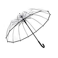 preiswerte Regenschirm /Sonnenschirm-1 Stück transparenter Regenschirm weibliche gerade langen Griff Regenschirm