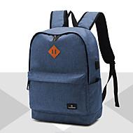 billige Computertasker-Herre Tasker Oxfordtøj Laptoptaske for Afslappet Formel udendørs Alle årstider Blå Sort Grå