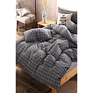 cheap Contemporary Duvet Covers-Plaid/Checkered 4 Piece Cotton Cotton 1pc Duvet Cover 2pcs Shams 1pc Flat Sheet