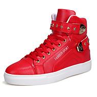 Hombre PU Otoño / Invierno Confort Zapatillas de deporte Paseo Blanco / Negro / Rojo
