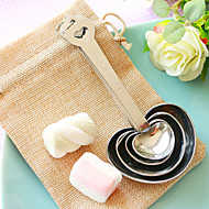 Heart Measuring Spoon in Burlap Bag Beter Gifts® Bridesmaids / Bridal Shower Favors