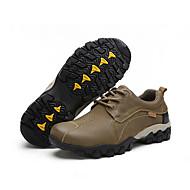 baratos Sapatos Masculinos-Homens Pele Napa Outono / Inverno Conforto Oxfords Aventura Castanho Claro / Khaki