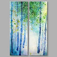 Kézzel festett Absztrakt Absztrakt Modern Két elem Vászon Hang festett olajfestmény For lakberendezési