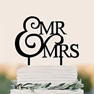 ケーキトッパー 誕生日 結婚式 高品質 プラスチック 結婚式 誕生日 〜と 1 PVCバッグ