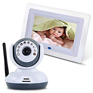 2,4 g trådløs baby monitor med 7 '' LCD nattvisning toveis TV-skjerm