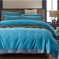 מוצק 4 חלקים כיסוי שמיכת יחידה 1 כריות מיטה 2 יחידות סדין יחידה 1